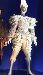 """""""Ashes to Ashes"""" costume for the music video by the same same. The costume was exquisitely designed by David's long time collaborator, Natasha Korniloff."""